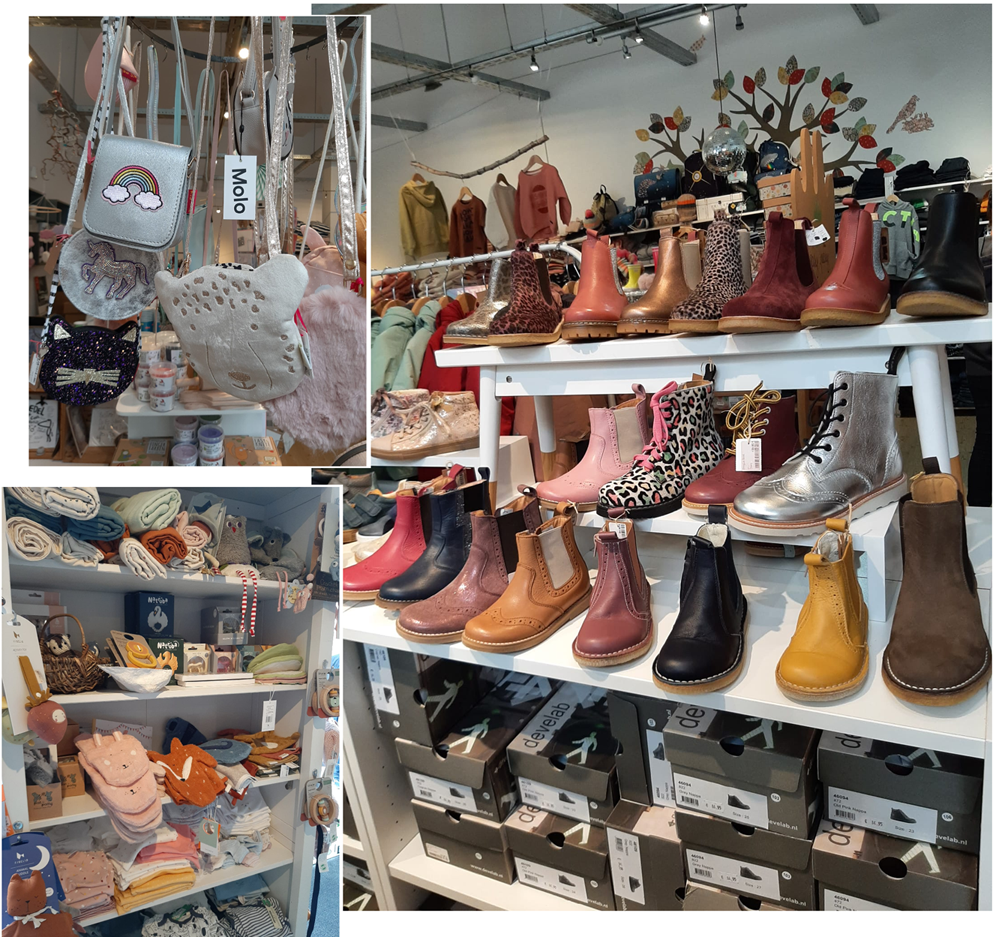 Schuhauswahl im Laden Glückskinder