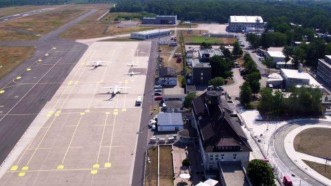 Luftbild Startbahn Forschungsflughafen Braunschweig