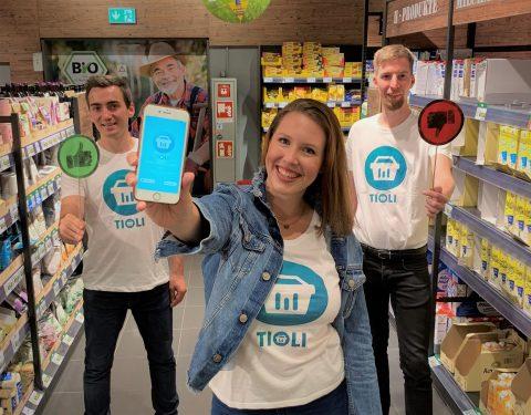 Die drei Gründer*innen der App TIOLI