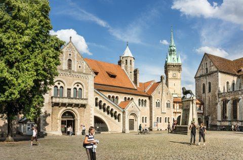 Der Burgplatz in Braunschweig